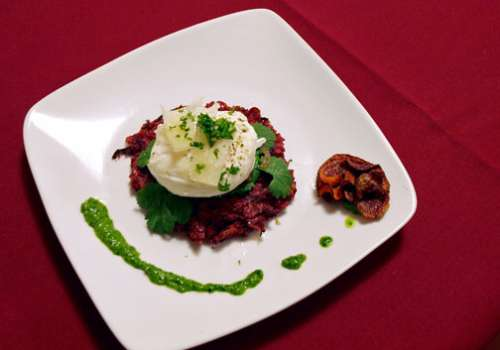 A photo of the winning Top Chef Bastyr dish.